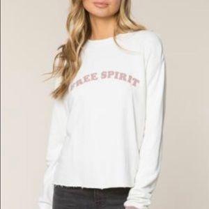 Spiritual Gangster Free Spirit Crop Sweatshirt M
